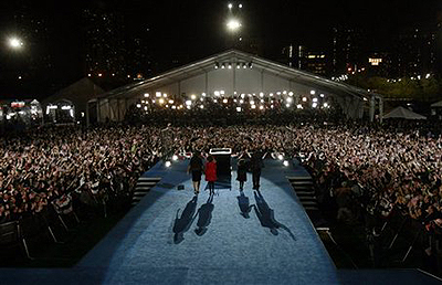 Barack Obama victory rally in Grant Park